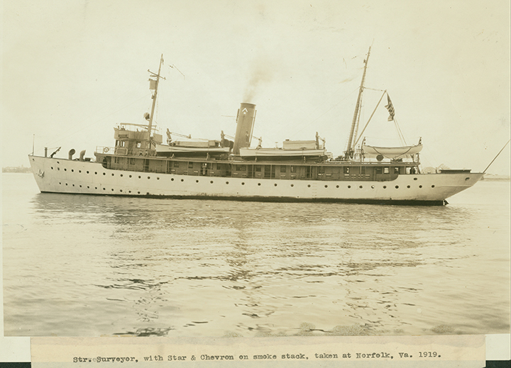 A photo of a ship dated from 1919.