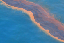 An aerial image of emulsified oil.